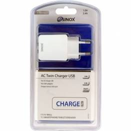 Sinox i-Media 2xUSB oplader til iPhone/iPad 10W