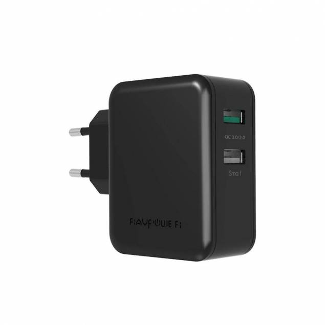 RAVPower 30W QC 3.0 dobbelt USB oplader i Hvid