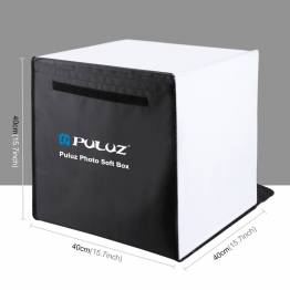 PULUZ foto boks med 2 LED paneler og flere bagsider
