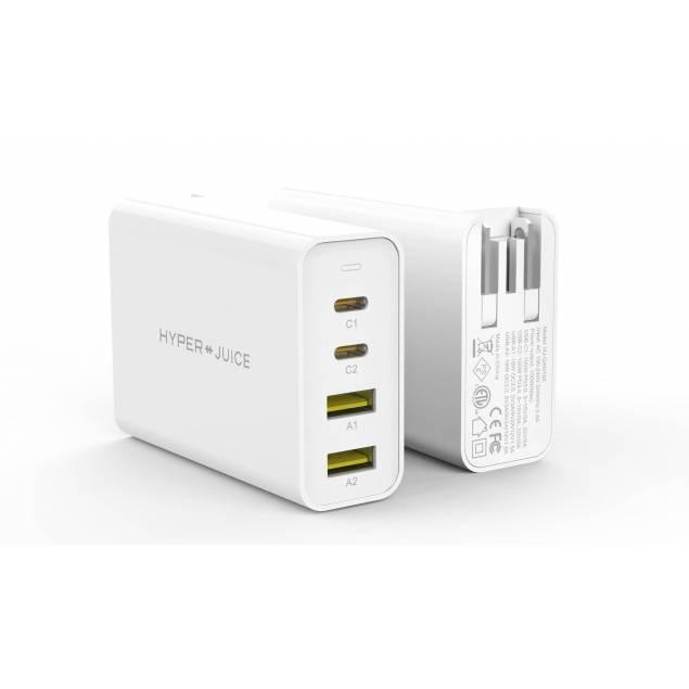 Hyperjuice dobbelt USB-C PD powerbank 27000mAh 130W