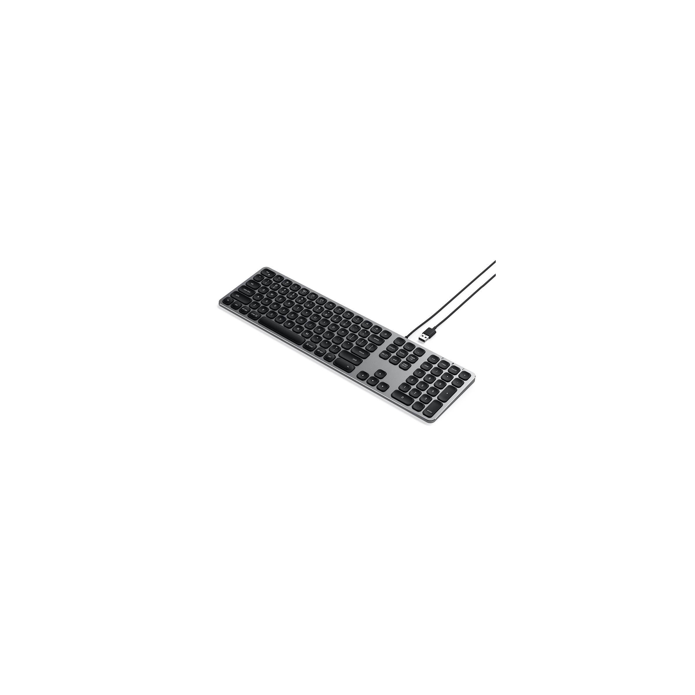 satechi Satechi-tastatur med usb lavet til mac - nordic layout (æøå) farve space gray på mackabler.dk