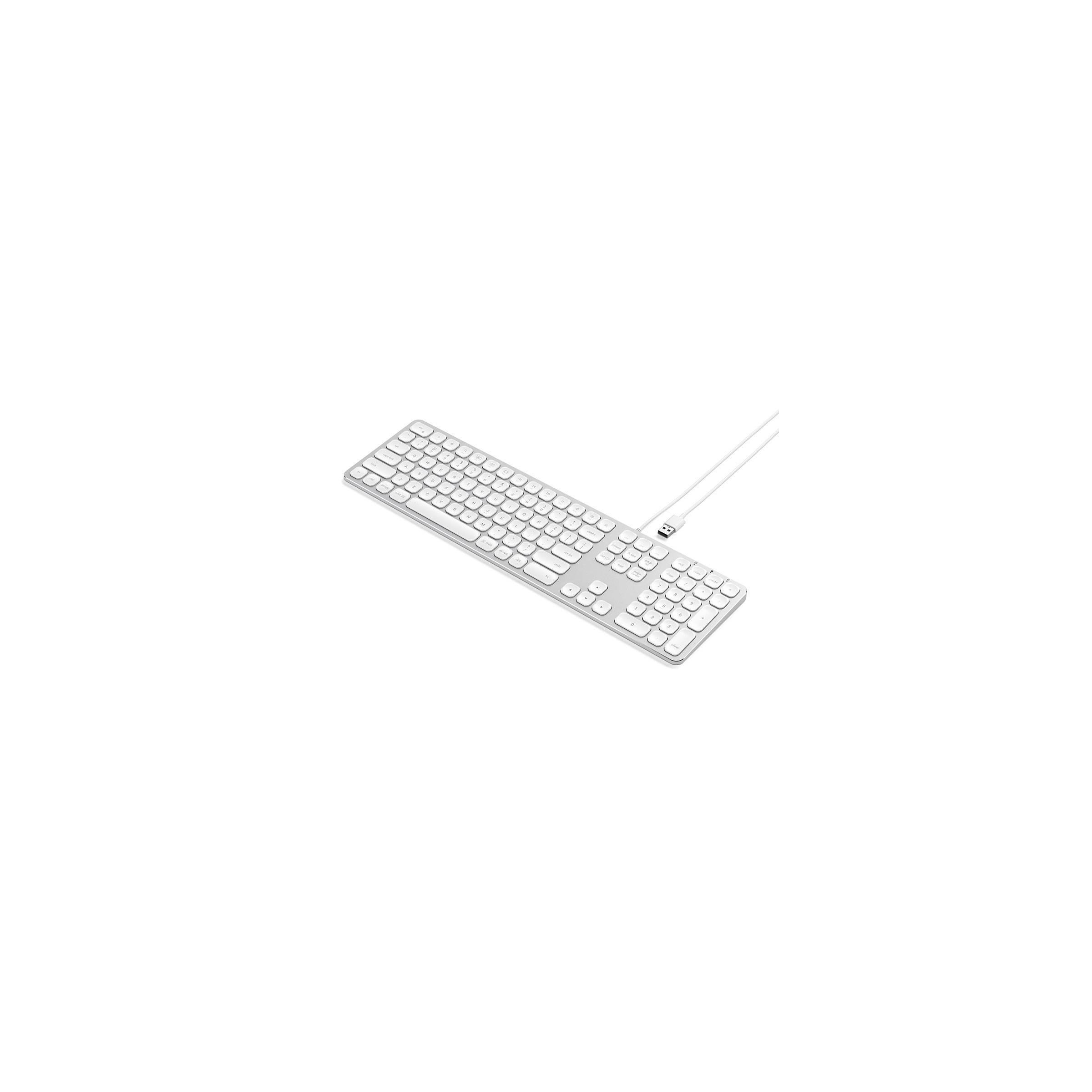satechi – Satechi-tastatur med usb lavet til mac - nordic layout (æøå) farve sølv farve på mackabler.dk