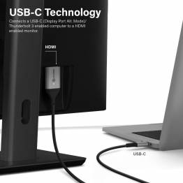 ALOGIC Ultra USB-C til HDMI kabel 4k@60Hz 1/2m