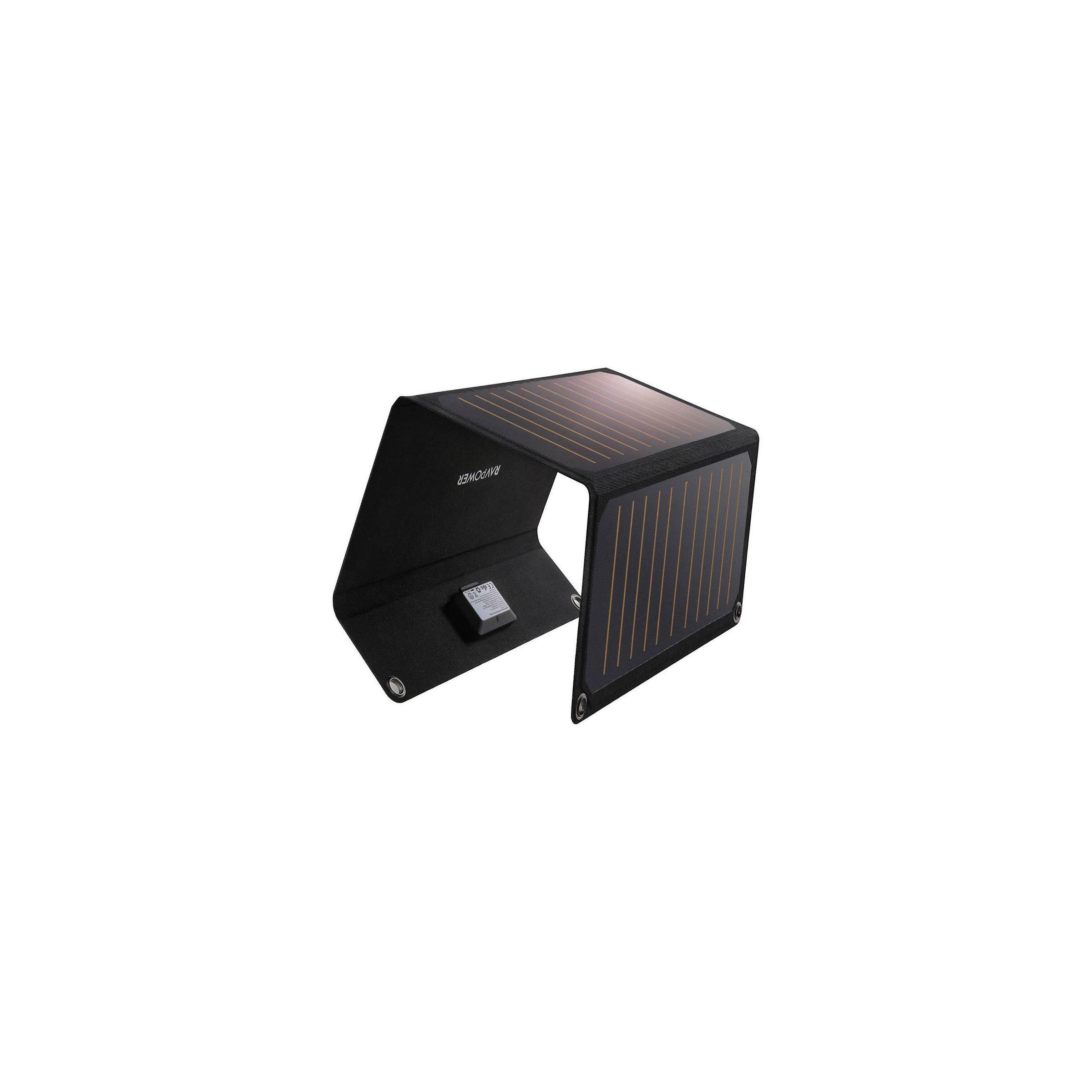 ravpower – Ravpower powerport solcelle panel 21w 2-ports sort på mackabler.dk