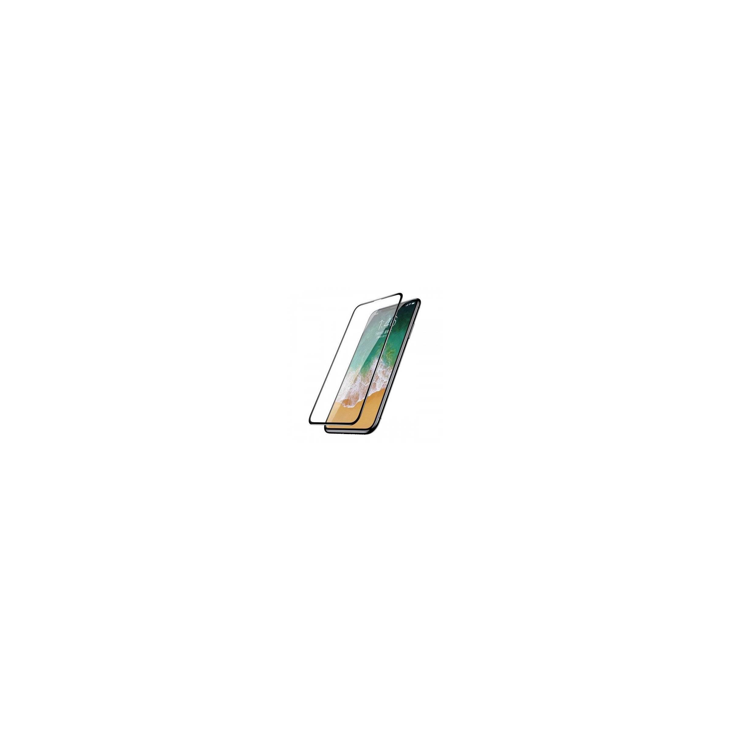 Baseus iphone x/xs beskyttelsesglas med kant fra baseus fra mackabler.dk