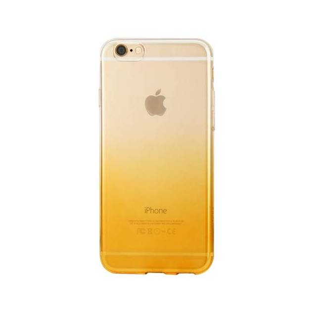 Slim silikone solopgang cover til iPhone 6/6s guld