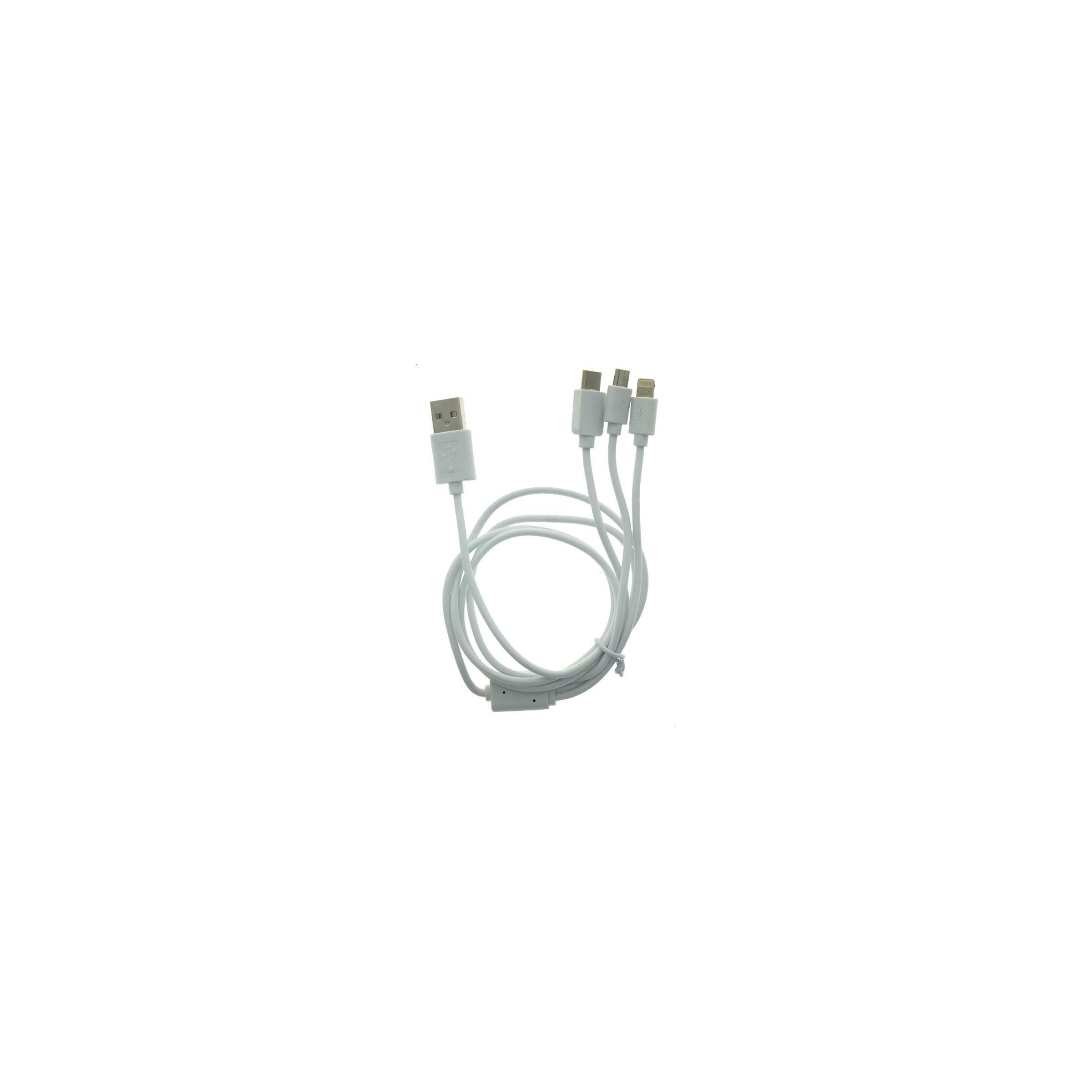 sinox Multi oplader kabel lightning, microusb og usb-c sinox på mackabler.dk