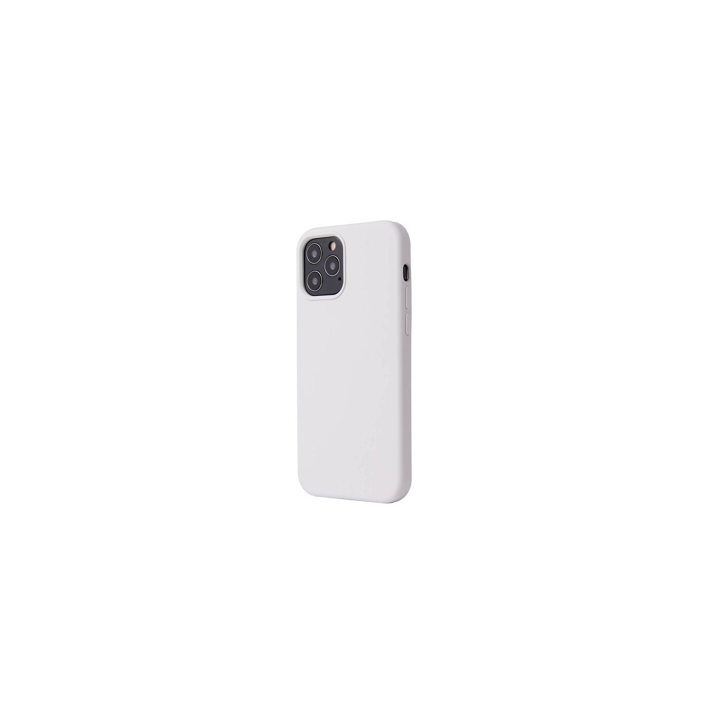 """Lækkert iphone 12 pro/ 12 silikone cover 6,1"""" flere farver farve hvid fra kina oem fra mackabler.dk"""