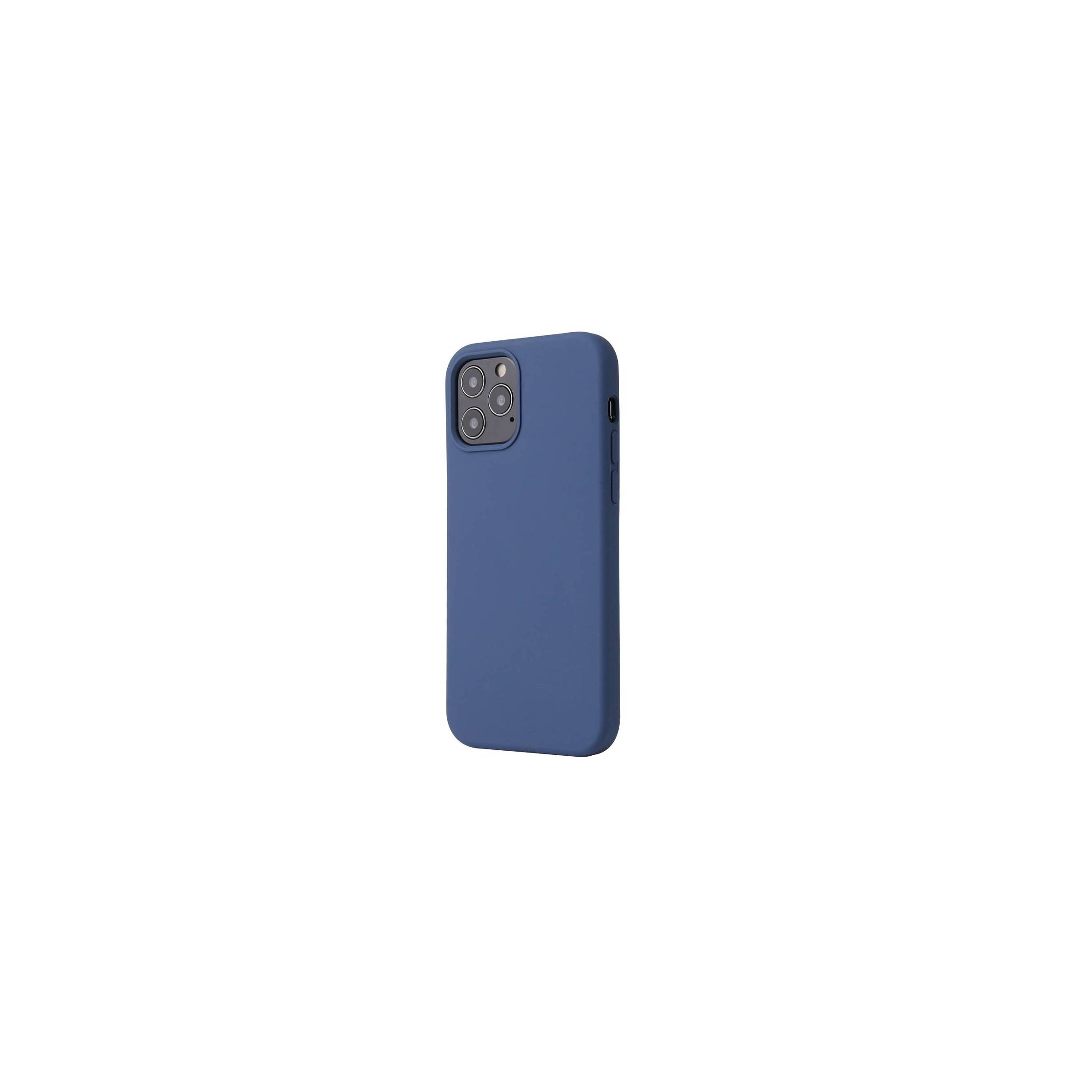 """kina oem – Lækkert iphone 12 pro/ 12 silikone cover 6,1"""" flere farver farve blå på mackabler.dk"""