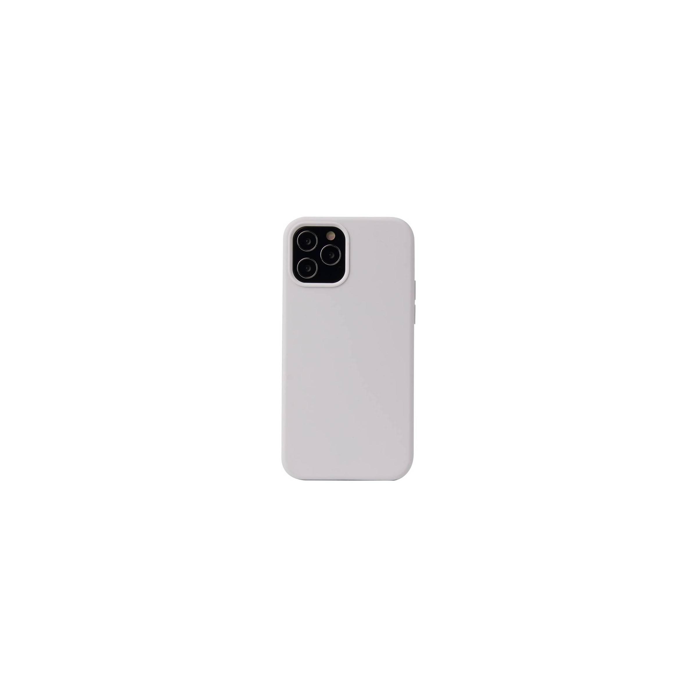 """kina oem Lækkert iphone 12 mini silikone cover 5,4"""" flere farver farve hvid på mackabler.dk"""