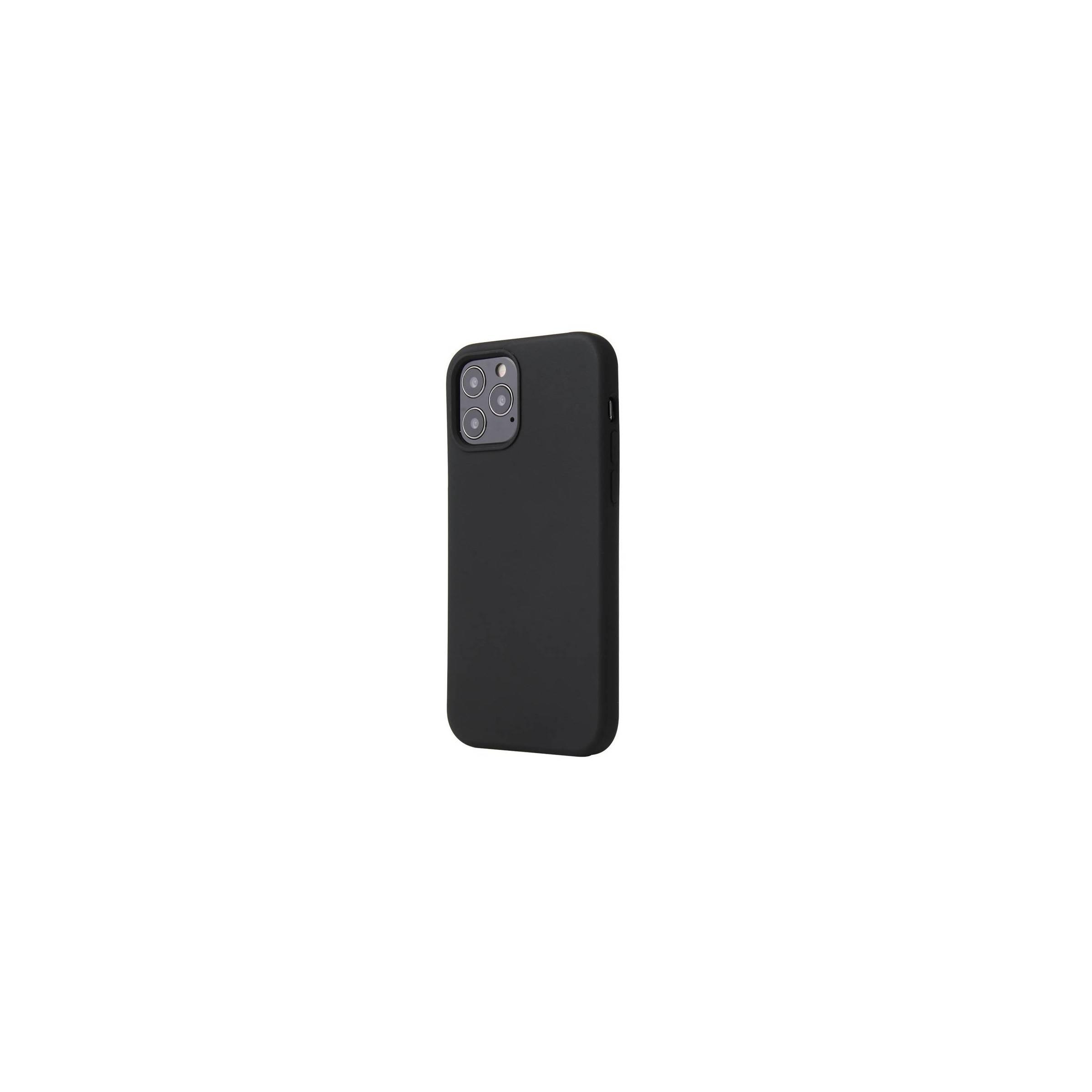 """kina oem – Lækkert iphone 12 pro max silikone cover 6,7"""" flere farver farve sort fra mackabler.dk"""
