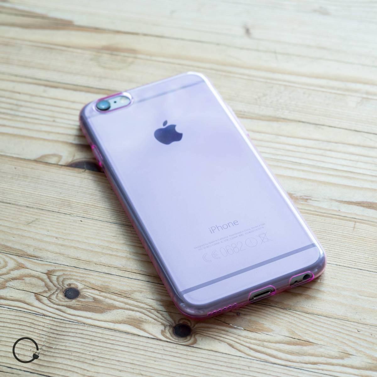 Tyndt silikone cover til iPhone 6 6s blå lyserød - MacKabler.dk fra ... b92737a85ec2a