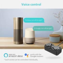 Meross MSS620EU IP44 vandtæt udendørs strømstik til Alexa, Google Assistant og iOS App