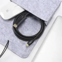 USB-C til HDMI kabel i grå på 1,8m Choetech
