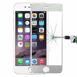 Image of   Beskyttelsesglas med kant Farve Sølv farve, iPhone iPhone 5/5s/SE