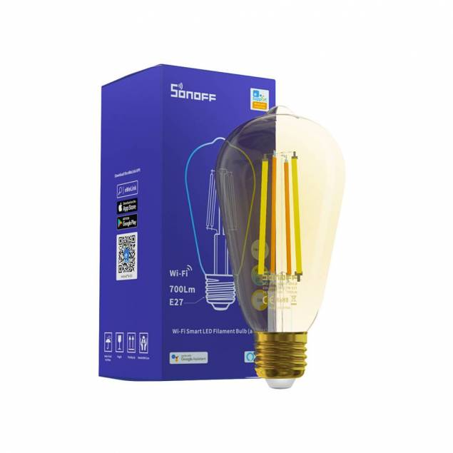 Sonoff ST64 Wi-Fi Smart filament amber LED pære