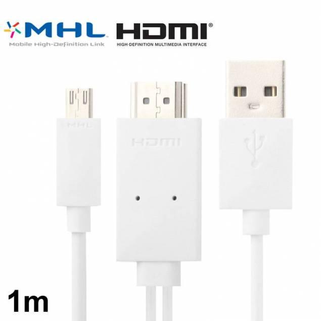 Image of   Micro USB til HDMI kabel 1m