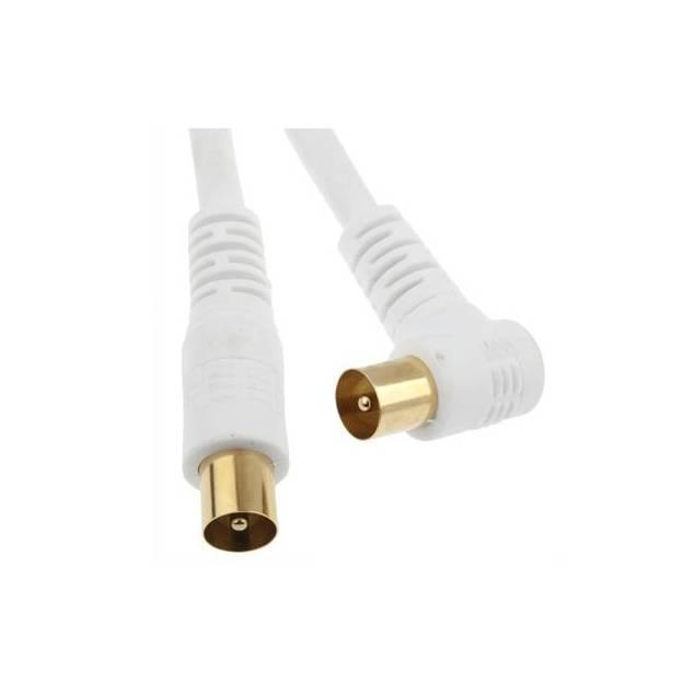 Antenne kabel 5m - Antennekablet er skærmet en enkelt gang, og hvidt. Stikket er et helt normalt 9,5 mm coaxkabelantennestik med han i den ene ende og et hun i den anden ende. Kablet virker til fx til yousee og Stofa antenne kabel tv.