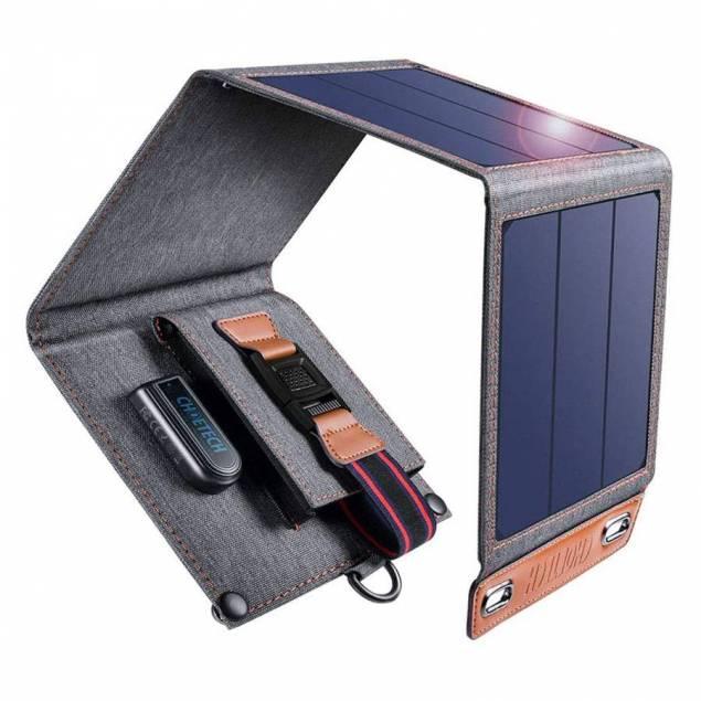 Choetech 14W Solcellepanel m. USB-A 1-port