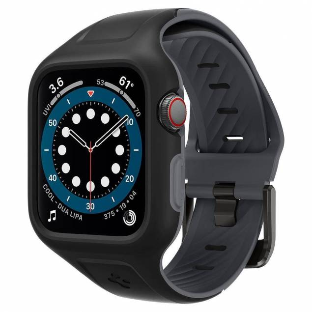 "Spigen Apple Watch Liquid Air ""Pro"" rem 44 mm - sort"