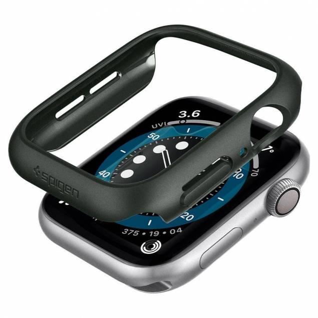 Spigen Apple Watch Thin Fit cover 4/5/6/SE 44mm - Militær grøn