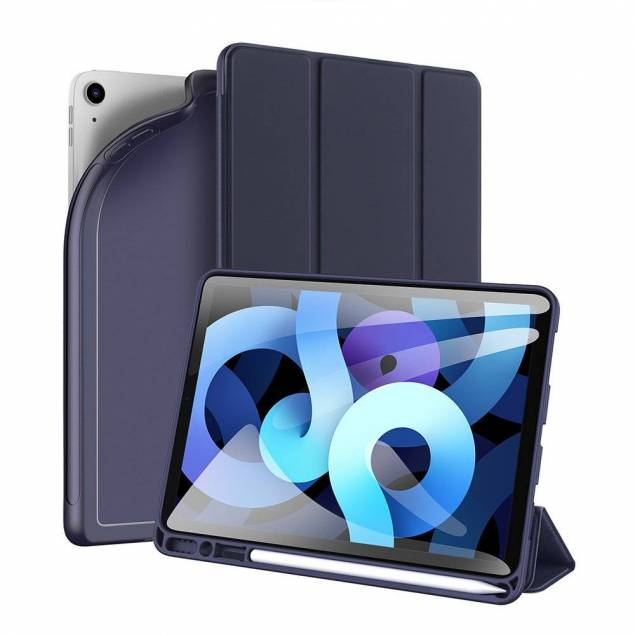 "iPad Pro 11"" 2020 / iPad Air 4 cover med plads til Apple Pencil - Blå"