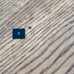 X knap til Macbook