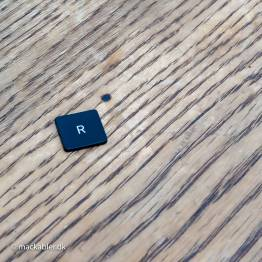R knap til Macbook