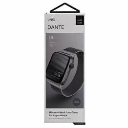 QNIQ Dante Milanese Loop rem til Apple watch 42/44 mm - space gray