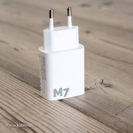 M7 iPhone/iPad USB oplader USB og USB-C 20W