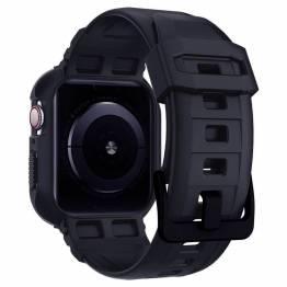 Spigen Apple Watch Rugged Armor Pro 44mm rem - Sort