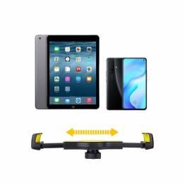 Fleksibel justerbar iPhone/iPad holder - gul/sort