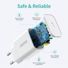 Choetech iPad/iPhone 20W oplader med USB-C PD