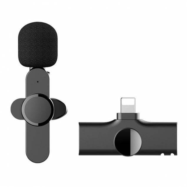 Trådløs Mikrofon Clip on til iPhone & iPad med Lightning