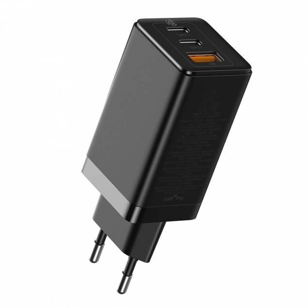 Baseus GaN2 Pro 3-port 65W USB-C PD Mac oplader
