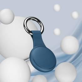 AirTag holder til nøglering i silikone i grøn