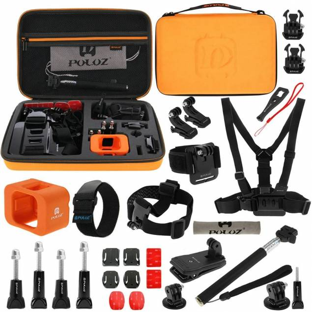 GoPro kit med 29 dele inklusiv taske