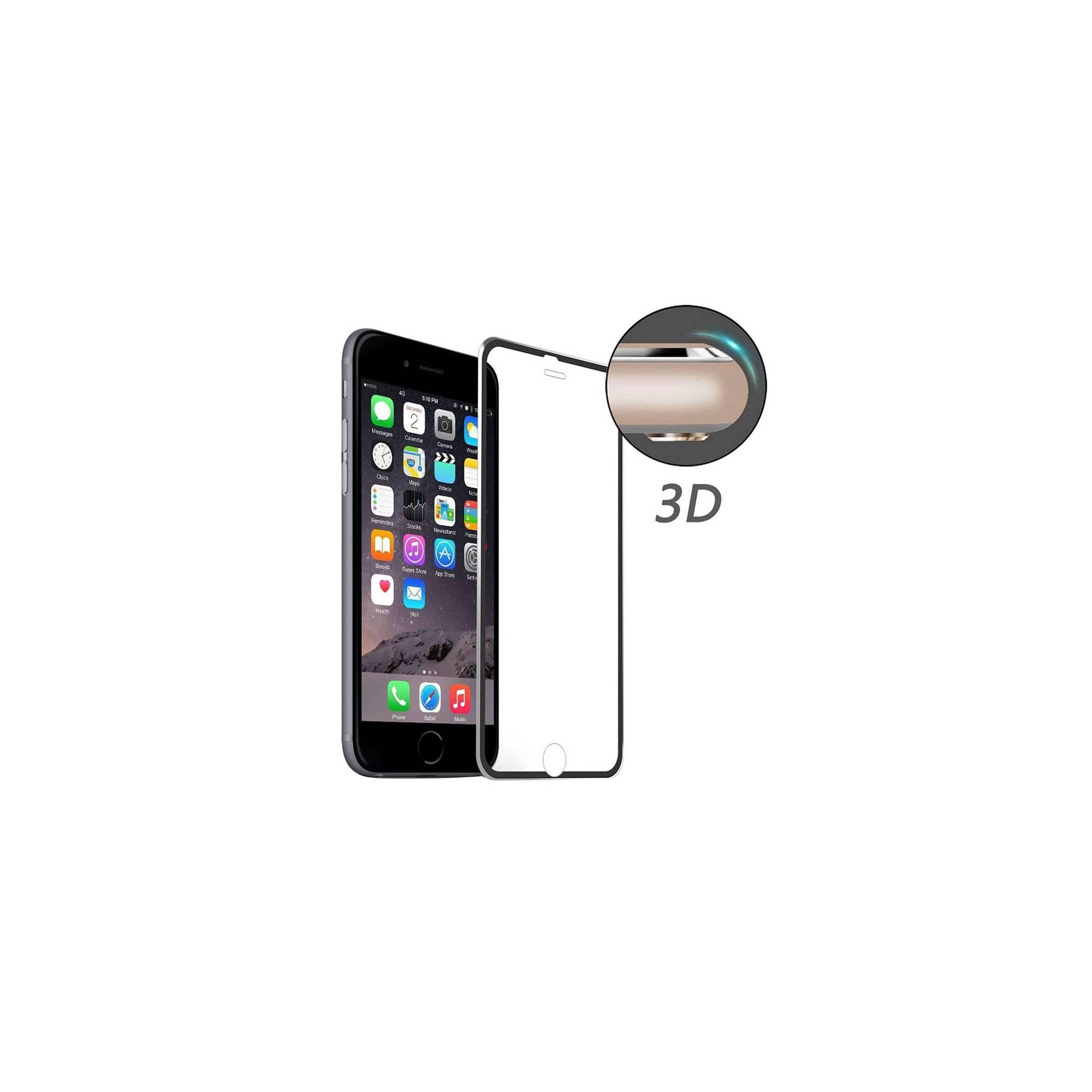 enkay Iphone beskyttelsesglas 3d farve sort, iphone iphone 6 / 6s / 7 / 8 / se 2020 på mackabler.dk
