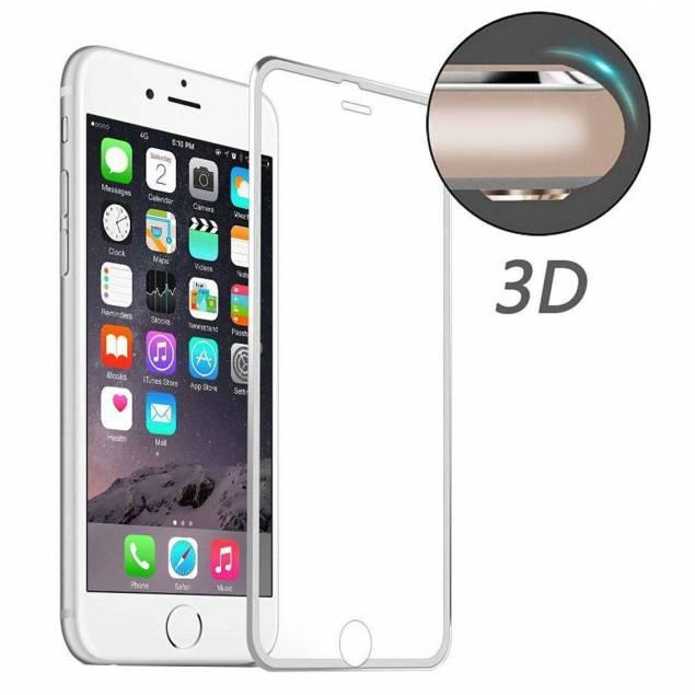 iPhone Beskyttelsesglas 3d sølv