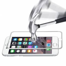 Image of   iPhone beskyttelsesglas 3d Farve Sølv farve, iPhone iPhone 6 / 6s / 7 / 8 / SE 2020