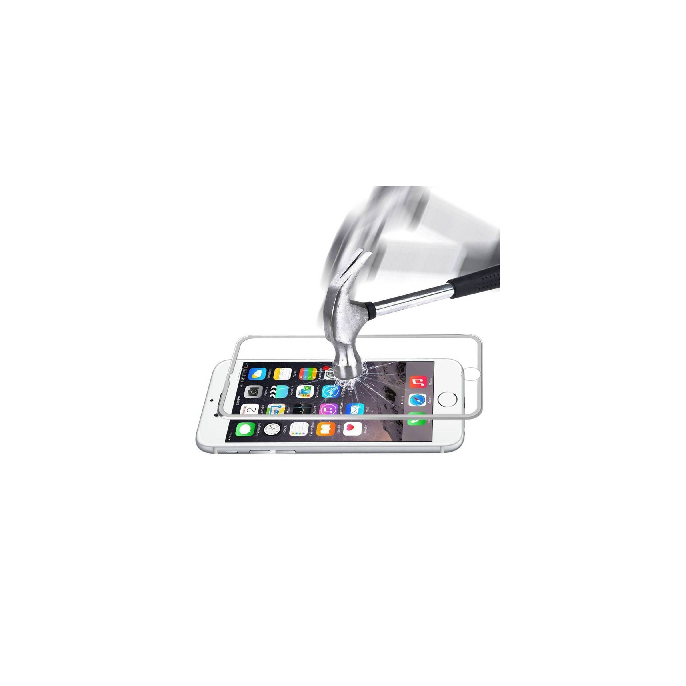 enkay – Iphone beskyttelsesglas 3d farve sølv farve, iphone iphone 6 plus/ 6s plus / 7 plus / 8 plus fra mackabler.dk