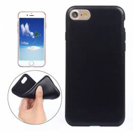 Image of   iPhone 7 & 8 cover tyndt forstærket plastik Farve Sort, iPhone iPhone 7 & iPhone 8 / iPhone SE 2020