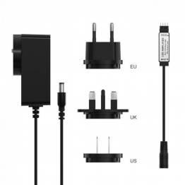 Sonoff LED strip amplifier med EU+UK+US stik