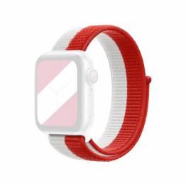 Apple Watch loopback rem 38/40 mm - rød og hvid
