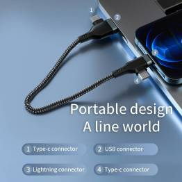 WiWU Platinum USB/USB-C til Lightning og USB-C data kabel 60W - 1,2m