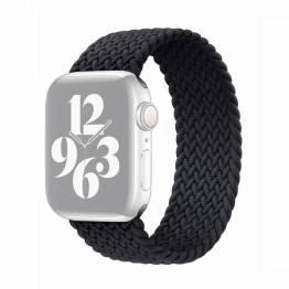 Apple Watch flettet rem 42/44 mm - Medium - sort
