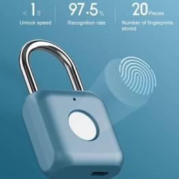 Xiaomi nøglefri hængelås med fingeraftryk - blå
