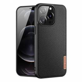 """DUX DUCIS Fino iPhone 13 Pro 6,1"""" cover med vævet overflade - sort"""