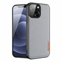 """DUX DUCIS Fino iPhone 13 mini 5,4"""" cover med vævet overflade - grå"""