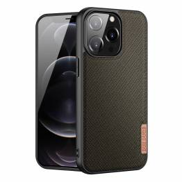 "DUX DUCIS Fino iPhone 13 Pro 6,1"" cover med vævet overflade - grøn"